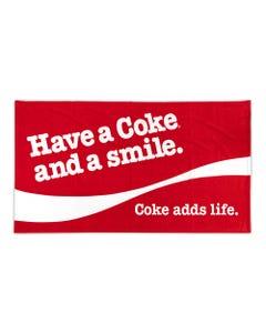 Coca-Cola Smile Beach Towel