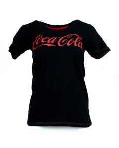 Coca-Cola Script Women's Crew Neck Slub Tee