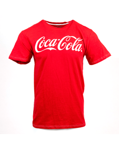Coca-Cola Slub Script Tee Red S