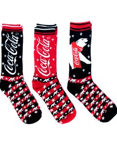 Coca-Cola Polar Bear Men's Socks - 3PK