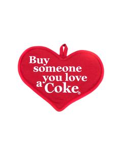 Coca-Cola Heart Pot Holder