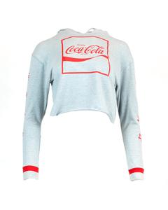 Coca-Cola Language Women's Crop Hoodie