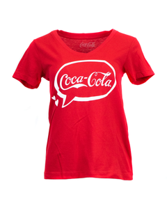Coca-Cola Bubble Ladies Jr. V-Neck Tee