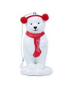 Coca-Cola Polar Bear W/Earmuffs Ornament.