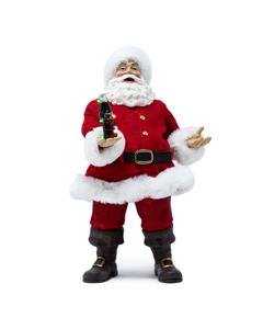 Coca-Cola Santa W/LED Bottle Figurine