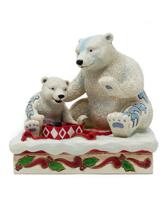 Coca-Cola Jim Shore Polar Bear Mom & Baby Figurine