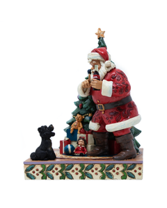 Coca-Cola Jim Shore Santa And Dog Figurine