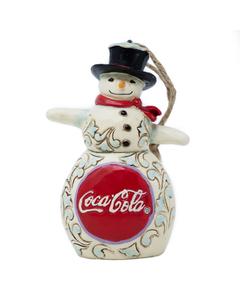 Coca-Cola Jim Shore Snowman Disc Ornament