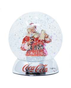 Coca-Cola Santa Waterdazzler LED Snow Globe