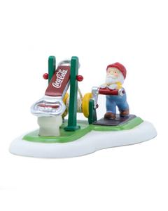 Coca-Cola Dept. 56 Bottle Cap Tester Figurine