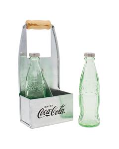 Coca-Cola Mini Bottles S&P Set/Tin Holder