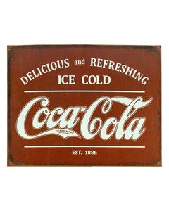 Coca-Cola Established 1886 Tin Sign