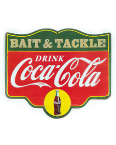 Coca-Cola Bait & Tackle Tin Sign