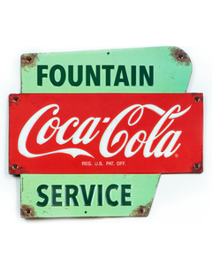 Coca-Cola Fountain Service Tin Sign