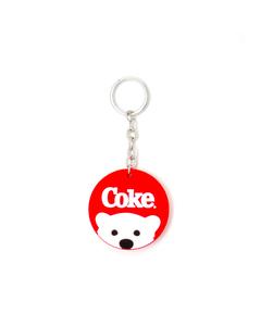 Coke Polar Bear Silicone Keychain