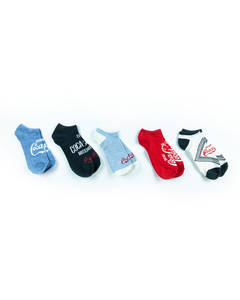 Coca-Cola Diamond Women's Shoe Liner Socks - 5PK