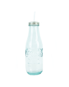 Coca-Cola Recycled Glass Bottle W/Lid 20oz.