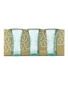 Coca-Cola Recycled Flare Drinking Glasses - Set of 3 10oz.