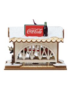 Coca-Cola Cottage Covered Bridge Ornament