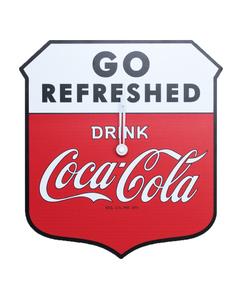 Coca-Cola Shield Sign Die Cut Wall Clock