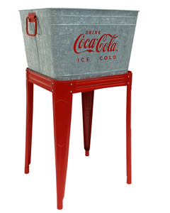 Coca-Cola Galvanized Wash Tub Set - 42QT