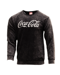 Coca-Cola Snow Wash Men's Crew Fleece