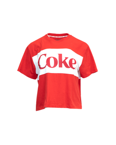 Coke Panel Women's Crop Tee