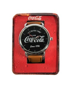 Coca-Cola Navy Face Script Watch