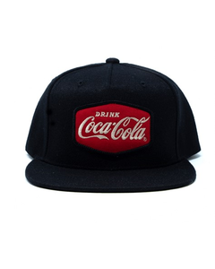 Coca-Cola Drink Patch Flat Bill Baseball Cap