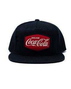 Coca-Cola Drink Patch Flat Bill Baseball Cap