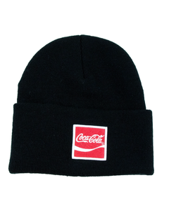 Coca-Cola Arden Square Patch Knit Beanie