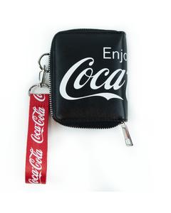 Coca-Cola Logo Wallet W/Strap Black