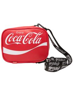 Coca-Cola Script Vertical Shoulder Bag-Red