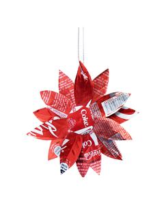 Coca-Cola Flower Ornament