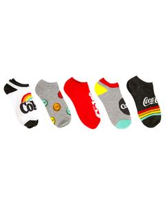 Coca-Cola Women's Rainbow Shoe Liner Socks - 5PK
