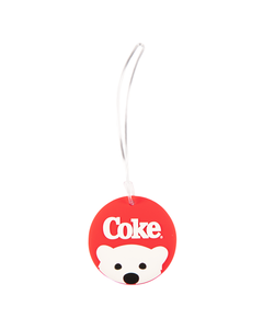Coke Polar Bear Peek Luggage Tag
