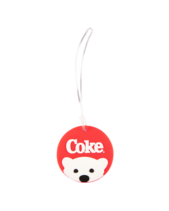 Coke Polar Bear Peek Luggage Tag