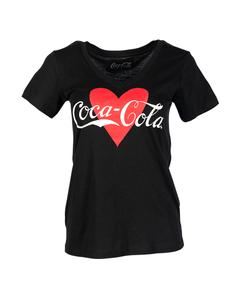 Coca-Cola Heart Women's V-Neck Tee