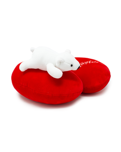 Coca-Cola Polar Bear Travel Pillow