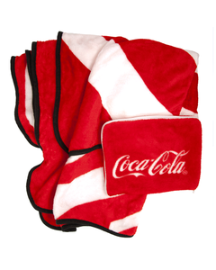 Coca-Cola Script Plush Travel Blanket