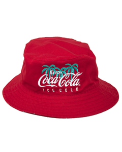 Coca-Cola Palm/Script Reversible Bucket Hat