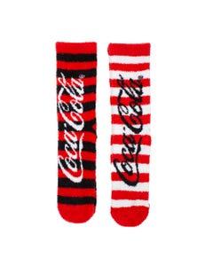 Coca-Cola Stripe Women's Cosy Socks-2PK