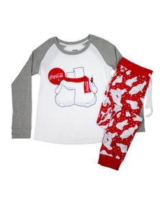 Coca-Cola Polar Bear Family PJ Set - Women