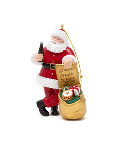Coca-Cola Santa W/Bag Ornament