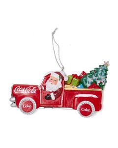Coca-Cola Santa In Truck W/Tree Ornament