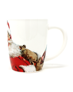 Coca-Cola Santa Laughing Mug -16oz