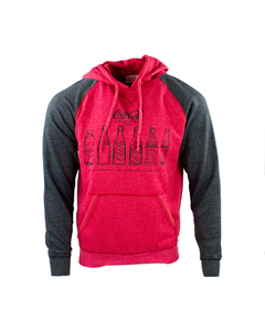 Coca-Cola Bottle History Hoodie-S-Heather Red