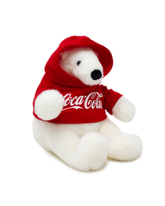 "Coca-Cola Polar Bear Plush W/Hoodie 6"""