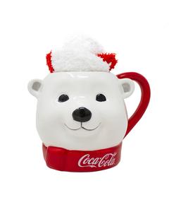 Coca-Cola Polar Bear Head Mug W/Socks