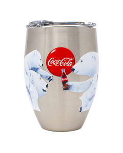 Coca-Cola Polar Bears Sharing Stainless Steel Tervis Tumbler